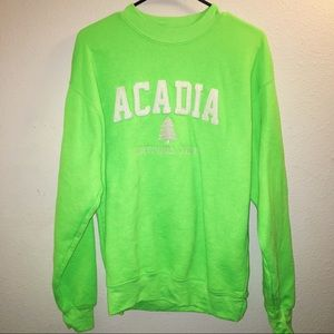 Neon green sweater